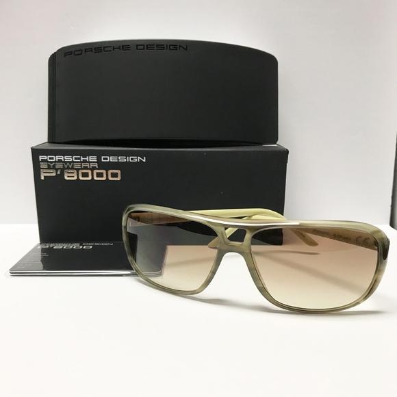 41adb6c5dacf Porsche Design Womens P8557 Olive Green Sunglasses